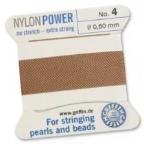 Nylon Bead Cord Cornelian #04 NY05-484