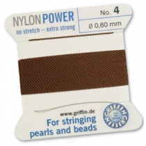 Nylon Bead Cord Brown #4 NY05-485