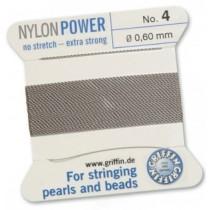 Nylon Bead Cord Gray #4 NY05-490