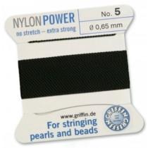 Nylon Bead Cord Black #5 NY05-599