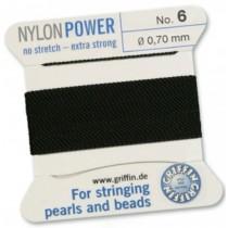 Nylon Bead Cord Black #6 NY05-699