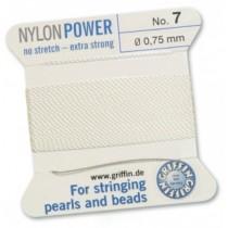 Nylon Bead Cord White #7 NY05-701