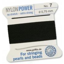 Nylon Bead Cord Black #7 NY05-799