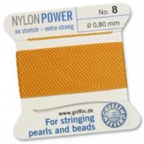 Nylon Bead Cord Amber #8 NY05-842