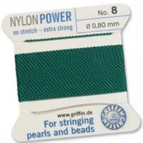 Nylon Bead Cord Green #8 NY05-854