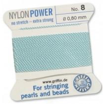 Nylon Bead Cord Turquoise #8 NY05-862