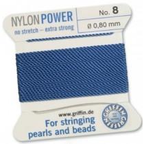 Nylon Bead Cord Blue #8 NY05-864