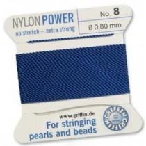 Nylon Bead Cord Dark Blue #8 NY05-866