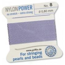 Nylon Bead Cord Lilac #08 NY05-870