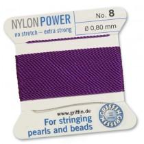 Nylon Bead Cord Amethyst #8 NY05-872