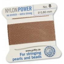 Nylon Bead Cord Cornelian #08 NY05-884