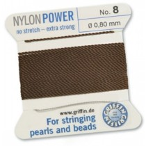 Nylon Bead Cord Brown #8 NY05-885