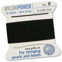 Nylon Bead Cord Black #8 NY05-899