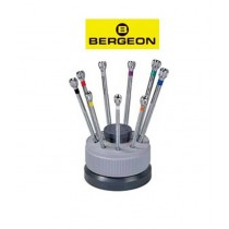 Screwdriver Set (9 pc) Bergeon Revolving Stand WT800.970